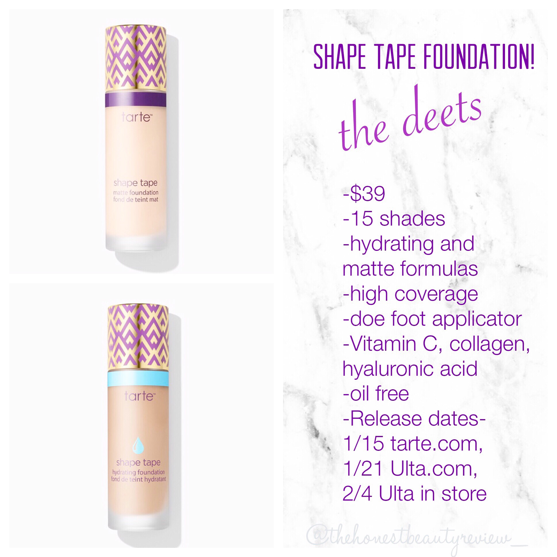 New Tarte Shape Tape Foundation The Details The Honest Beauty Review